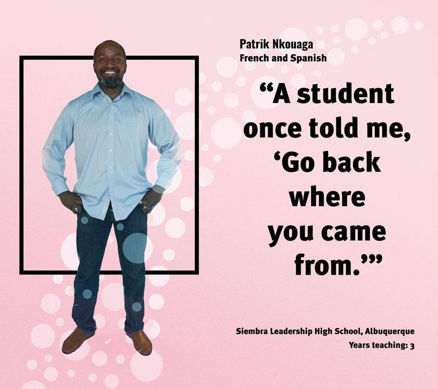 Teacher Patrick Nkouaga