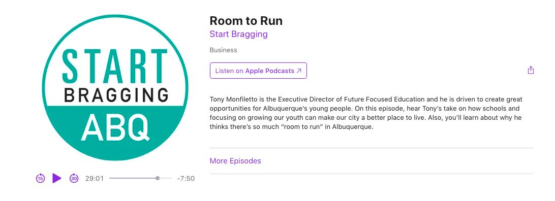 Start Bragging Podcast link