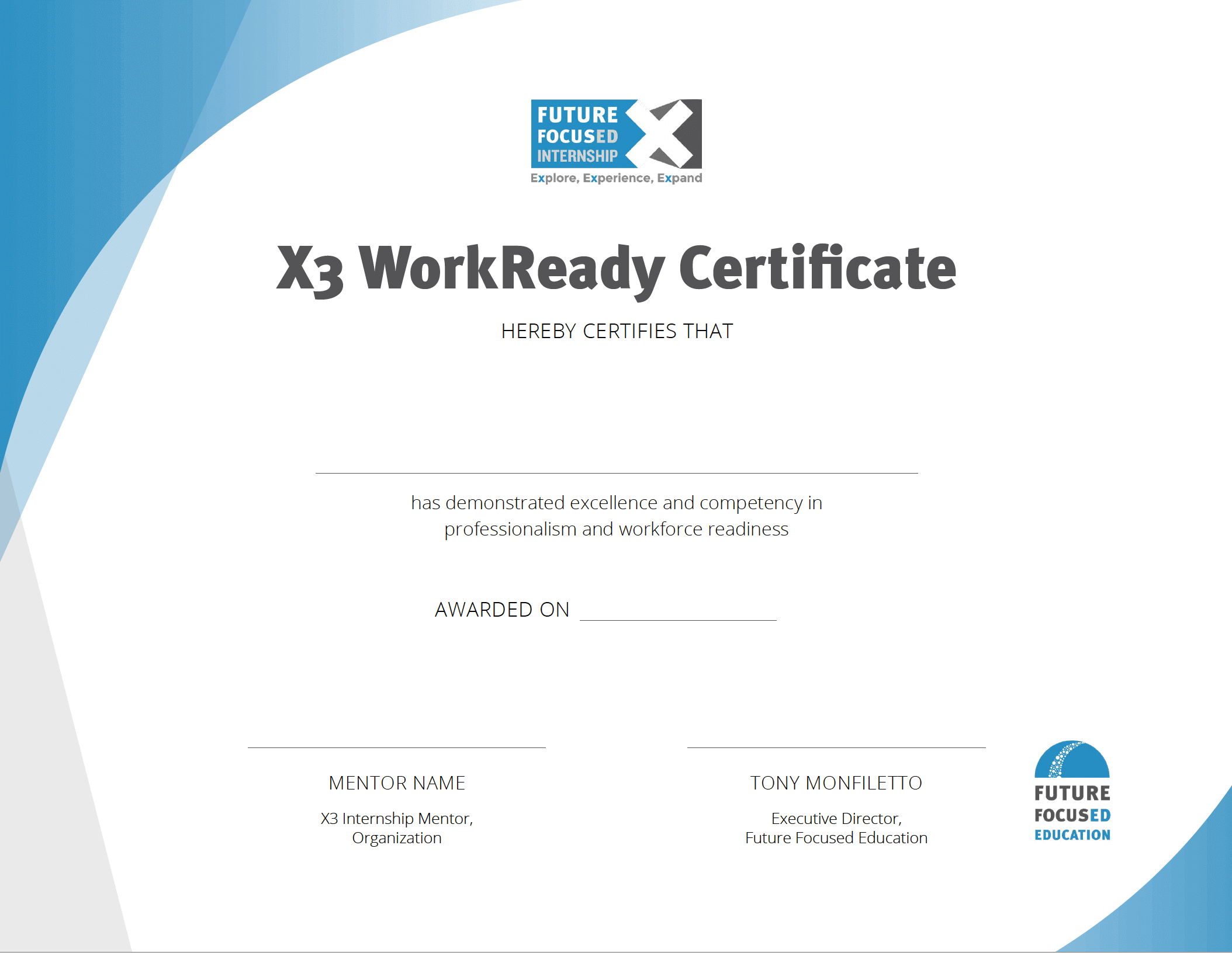 WorkReady Certificate Image